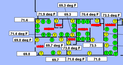 Terminal Unit and Space Temp Map lacks space labels
