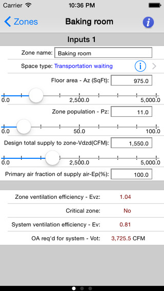 ASHRAE 62.1-2013 app screenshot