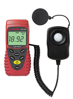 Photo of a light meter: Measurement Tools for Energy Audits and RCx