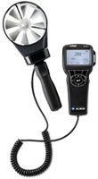 Photo of a Rotating Vane Anemometer: Measurement Tools for Energy Audits and RCx