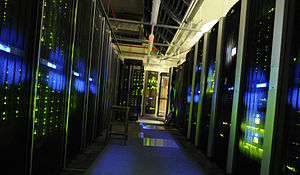 English: The server room at The National Archives