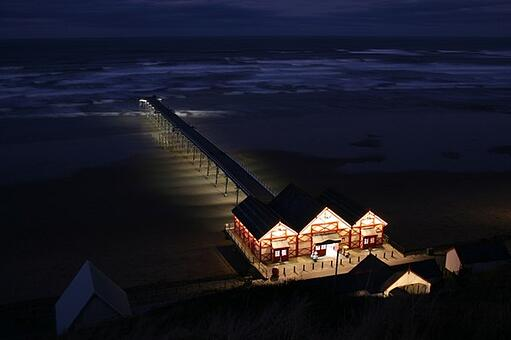 English: The Pier at Night The recently comple...