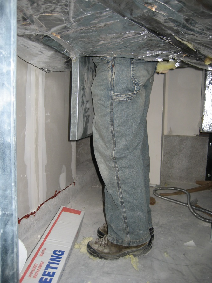 Figure 1: Good access to a smoke damper through a duct access door.