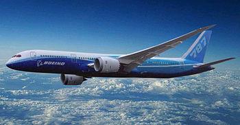 English: Artist impression of Boeing 787-9 Dre...