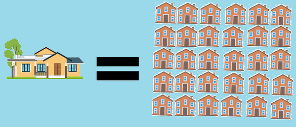 30 houses