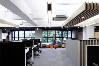 An example of an over-lit office space.