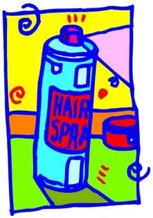 hairspray bottle
