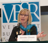 Jennifer Chiodo Shares Choices to Creating a Thriving Business at Vermont Businesses for Social Responsibility Conference
